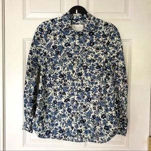 ☀️ Sonoma Floral Button Down long sleeve Blouse S
